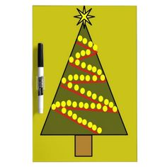Christmas Tree Dry Erase Board #Christmas #Tree #Whiteboard