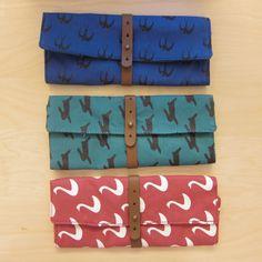 Conejo / tragar / lona lavada Wrap lápiz del cisne del caso / maquillaje bolsa / lápiz Roll / arte envolver / bolsa de cosméticos