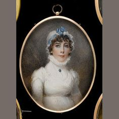 Mrs. Anne Mee (née Foldstone) (British, circa 1770-1851) although this is her self portrait she painters a miniature of lady Georgiana de Tabley c. 1810