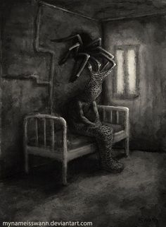 salome-mi-ange-mi-demon:by asya yordanova Scary Drawings, Dark Art Drawings, Fantasy Kunst, Dark Fantasy Art, Arte Horror, Horror Art, Makeup Fx, Dark Creatures, Monster Art
