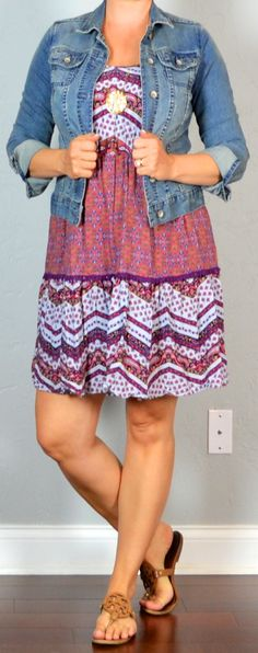 Outfit Posts: outfit post: purple boho dress, jean jacket, sandals
