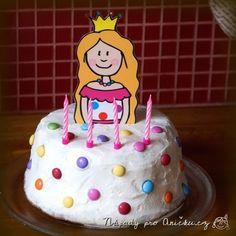Dort - princezna - Princess cake Birthday Cake, Desserts, Food, Tailgate Desserts, Deserts, Birthday Cakes, Essen, Postres, Meals