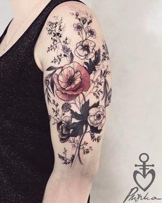 @voice_of_ink_tattoo #girlythings #flowertattoo #flowerporntattoo #poppytattoo dziękuje Asia po raz kolejny