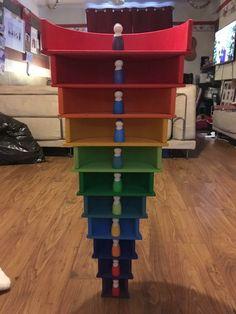 Rainbow Activities, Activities For Kids, Natural Playground, Playground Ideas, Grimm's Toys, Grimms Rainbow, Rainbow Blocks, Educational Baby Toys, Wooden Rainbow