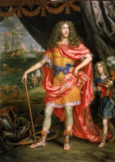 James, Duke of York (future James II) as Mars, god of war, by Henri Gascar, 1672-73 © National Maritime Museum, London, Greenwich Hospital Collection. In his capacity as Lord High Admiral -during the reign of his elder brother king Charles II- James commanded the Royal Navy during the Second and Third Anglo-Dutch Wars.