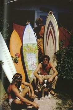 I'd  say....a 70's Cali scene.......a nice assortment of period boards.....6 foot something single fins, most likely.