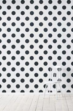 Wallpaper by ellos Callie-tapetti, musta