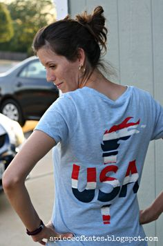 #DIY Olympic Shirt. Support Team USA in style!