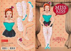 Fanny Cheval - Puppets http://www.blueart.fr/francais/carte-a-decouper-mes-puppetts-miss-kiss-par-fanny-cheval-14-8-x-21-cm.html