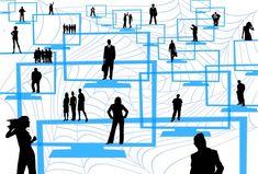 System, Netz, Nachrichten, Personen, Figuren, Netzwerk