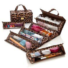Got leopard !!!!!!   Joy Mangano The Better Beauty Case Set and Bonuses Galore at HSN.com.