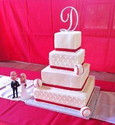 baseball theme wedding ideas | Baseball Themed Wedding Cake by lisascakes | Cake Decorating Ideas