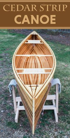 How to build your own cedar canoe.