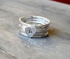 monogram stacking ring