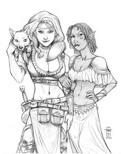 Vecca Vex and Sushalla (PC portraits) Graphite on bristol GenCon 2013 Two Pathfinder characters, one of which (the witch, Vecca Vex), I've drawn before. Vecca Vex and Sushalla Fantasy Women, Fantasy Art, D D Characters, Fictional Characters, Pathfinder Character, Water Nymphs, Princess Serenity, Sailor Moon, Witch