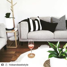 Double tap if you love this cool & contemporary living room! Thanks for sharing a picture of your #IKEA NOCKEBY sofa, @hideandseekstyle! #IKEAUSA