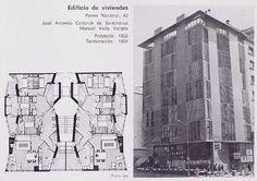 Edificio de viviendas Paseo Nacional , 43 José Antonio Coderch de Sentmenat Manuel Valls Vergés Proyecto: 1952 Terminación : 1954