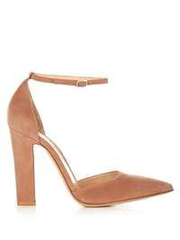 Mary-jane Point-toe Suede Pumps