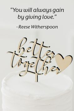"""#LoveQuote: """"You will always gain by giving love."""" - Reese Witherspoon Love Is All, True Love, Best Quotes, Love Quotes, Inspirational Quotes About Love, Reese Witherspoon, Better Together, Love Words, Giving"""