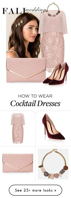 """Flawless Fall"" by i-love-red-so-damn-much on Polyvore featuring Gina Bacconi, Sasha, Gianvito Rossi, Lafayette 148 New York, peach, flawless, nude, fallwedding and stonejewel"