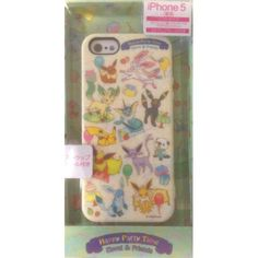 Pokemon Center 2013 Sylveon Eevee Espeon Flareon Glaceon Jolteon Leafeon Umbreon Vaporeon & Friends iPhone 5 Mobile Phone Soft Cover