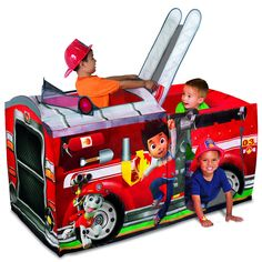 Video for PlayHut Paw Patrol Marshall Fire Truck Play Tent showcasing product features and benefits