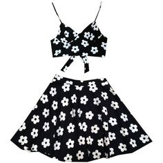 Daisy Set (170 BAM) ❤ liked on Polyvore featuring dresses, skirts, tops and two piece