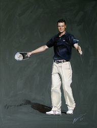 Golfing Greats are painted by the celebrated Sporting Artist, Mark Robinson. Original Oils, Acrylics and Watercolors are available, as affordable prints from the paintings as well as originals from the collection. Robinson Golf Art was set up to promote M Acrylic Portrait Painting, Portrait Paintings, Golf Art, European Tour, Dubai Golf, Artist, Germany, Sport, Website