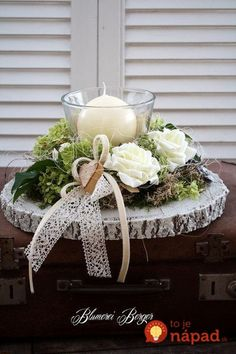 Here are the 20 Christmas centerpieces, which you liked best - Weihnachten Christmas Time, Christmas Wreaths, Christmas Crafts, Christmas Centerpieces, Xmas Decorations, Deco Rose, Deco Floral, Decoration Table, Holidays And Events