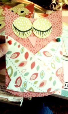 Handmade owl invitation