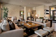 Sala de estar Contemporánea porción Ownby Diseño