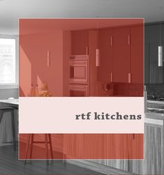 "So, what exactly is Rigid Thermal Foil (RTF)? In a nutshell, think of RTF cabinets as containing cabinet doors and drawer fronts that have a ""shrink-wrapped"" finish applied. The cabinet bases will then have the matching ""phenolic."" Think of the phenolic as ""wallpaper"" for your cabinets. Simple, elegant, contemporary. Oh, and easy to clean! Wood Cabinet Doors, Drawer Fronts, Contemporary, Modern, Cabinets, Drawers, Kitchens, It Is Finished, Cleaning"