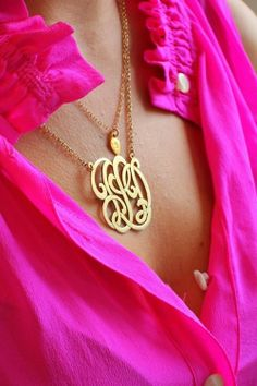 Love this monogrammed necklace so much!