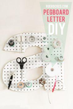 Make It! | Pegboard Letter DIY