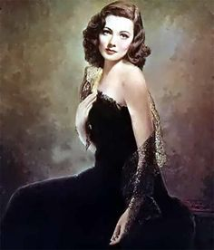 "Portrait of Gene Tierney from ""Laura"" - one of my favorite films, also a fabulous book!"