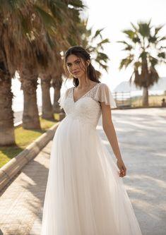 38 Brautkleider Fur Schwangere Ideen Brautkleider Fur Schwangere Schone Hochzeitskleider Heiraten