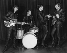 1960 publicity shot in Hamburg - with Pete Best on drums.