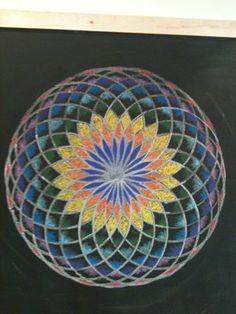 Age 12 ~ Geometric Drawing ~ chalkboard drawing