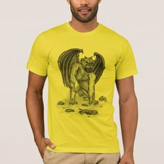 Golem Gargoyle T-Shirt - black and white gifts unique special b&w style
