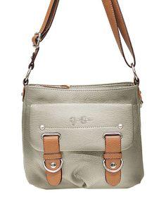 Look at this #zulilyfind! Pewter Sheila Crossbody Bag by Jessica Simpson Collection #zulilyfinds