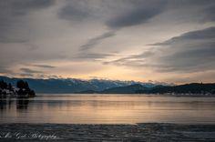 Flathead Lake. Lakeside, Montana. Mountains at sunset. www.facebook.com/alexgalephotography