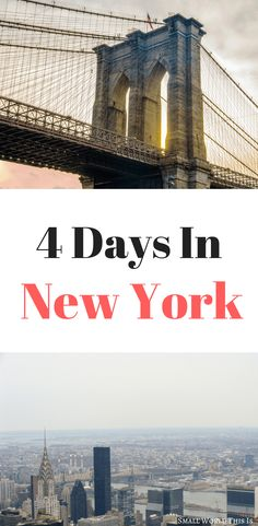 Visiting NYC soon? From the best aerial views of the city to two classic Brooklyn beach towns, here's where to spend 4 days in New York City | new york travel | new york things to do