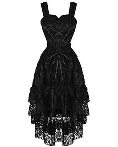 Dark In Love Persephone Gothic Prom Dress - Black Steampunk Lace Dress With Adjustable Corset Lacing Source by dresses black dresses black gothic Persephone, Pretty Dresses, Beautiful Dresses, Casual Dresses, Fashion Dresses, Dresses Uk, Formal Dresses, Steampunk Dress, Steampunk Wedding Dress