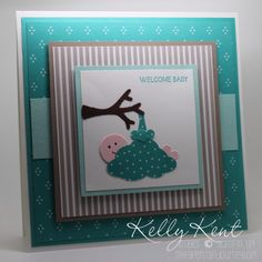 May 05 Kelly Ken: Stampin' Up! Tree Builder Punch not just for trees! Instructions provided Cherry on Top Paper stack