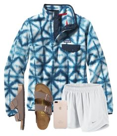 A fashion look from February 2017 featuring navy blue top, nike activewear and khaki shoes. Browse and shop related looks. Cute Teen Outfits, Chill Outfits, Sporty Outfits, Athletic Outfits, Spring Outfits, Trendy Outfits, My Outfit, Outfit Ideas, Birkenstock Outfit
