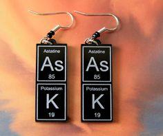 AsK   periodic table earrings