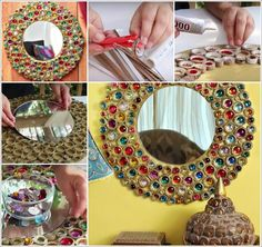 this-cardboard-mirror-frame-in-boho-style-is-just-superb-1