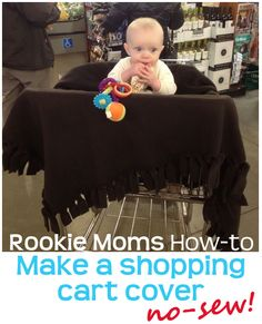 How to make a shopping cart cover for baby - no sew!