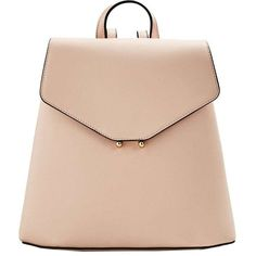 Front Lapel Backpack (86 BRL) ❤ liked on Polyvore featuring bags, backpacks, backpack, purses, сумки, embellished bag, magnetic bag, buckle bag, rucksack bags and metallic bag