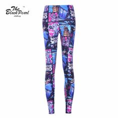 3D Comic Jegging Digital Printed Wholesale Capris Legging Fitness Sports pencil Pants  Only $19.99 => Save up to 60% and Free Shipping => Order Now!  #print leggings outfit #dress #Fashion #girl #Digital #sport #yoga